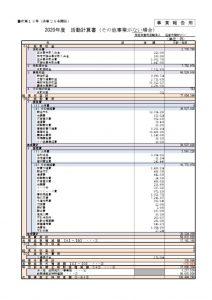 【け決算】資料(9)活動計算書(都庁報告用)のサムネイル